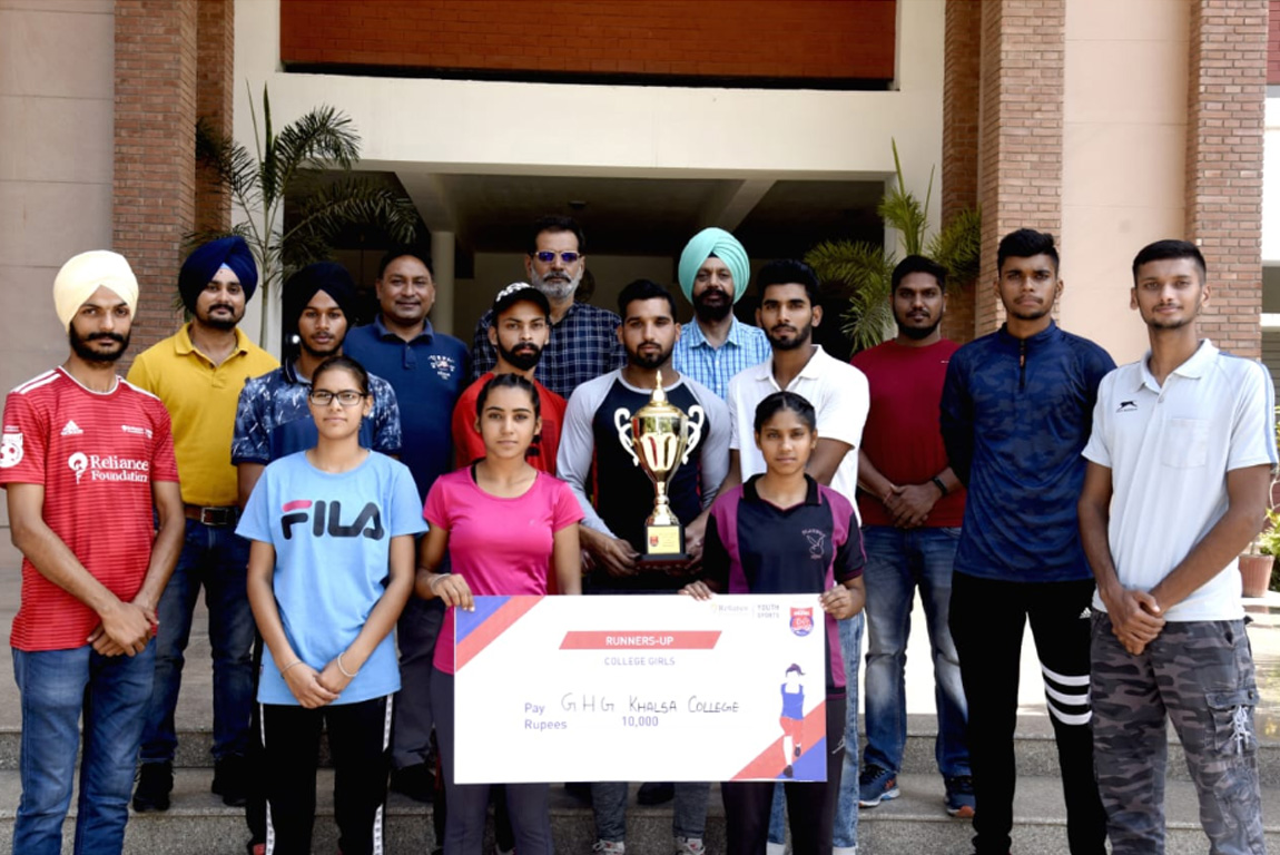 ATHLETES OF GHG KHALSA COLLEGE GURUSAR SADHAR BROUGHT LAURAL FROM RELIANCE FOUNDATION YOUTH SPORTS ATHLETICS CHAMPIONSHIPS HELD AT N.I.S PATIALA